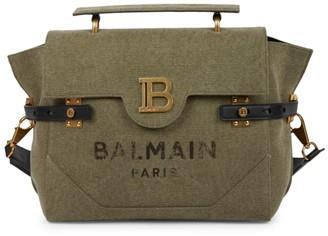Balmain B-Buzz 30 Canvas Shoulder Bag
