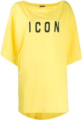 DSQUARED2 Icon print oversized T-shirt