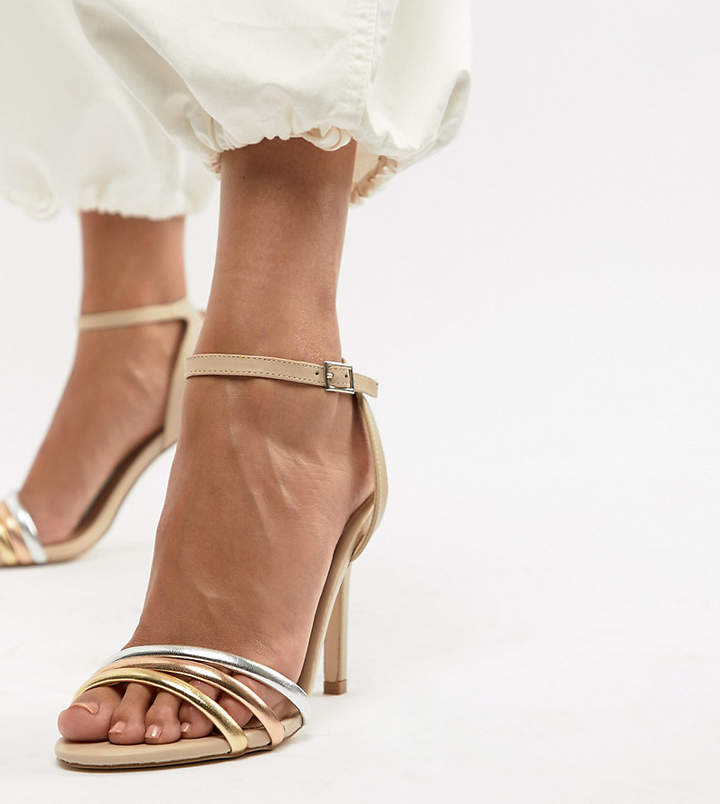 Aldo Strap Leather Heeled Sandal