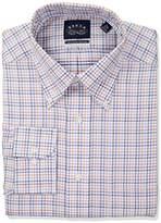 Eagle Men's Non Iron Regular Fit Multi Check Bd Collar Dress Shirt