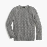 J.Crew Kids' cashmere cable crewneck sweater