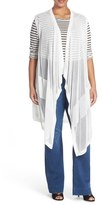 Melissa McCarthy Open Stitch Long Knit Vest (Plus Size)
