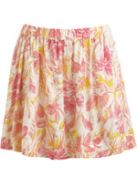 Leafy A-Line Mini Skirt