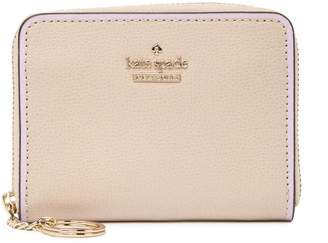 Kate Spade patterson drive leather painted edge zip around wallet