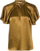 Lanvin short-sleeved blouse - women - Acetate - 38