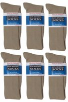 Jefferies Socks 6 Pair Non-Binding Dress Crew Sock Size 10-13