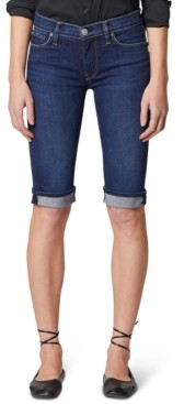 Hudson Cuffed Denim Bermuda Shorts