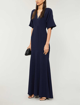 Whistles Jess flared crepe maxi dress