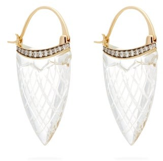 Noor Fares Sahasrara Diamond, Crystal & 18kt Gold Earrings - Womens - Crystal
