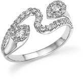 Bloomingdale's Diamond Wave Ring in 14K White Gold, .60 ct. t.w.