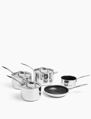 Marks and Spencer 5 Piece Tri Ply Pan Set