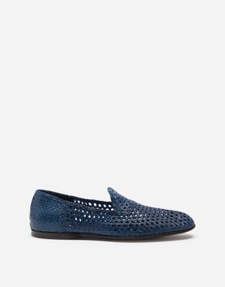 Dolce & Gabbana Hand-Woven Slippers