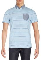 Ben Sherman Striped Jersey Polo Shirt