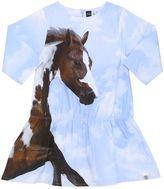 Molo Horse Print Cotton Poplin Dress