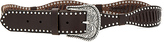 Linea Pelle Western Laced Belt in Chocolate. - size L (also in S,XS)