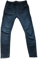 Diesel Black Gold Blue Cotton Trousers for Women