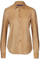 Ralph Lauren Malory Suede Shirt