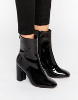Missguided Patent Heeled Ankle Boots
