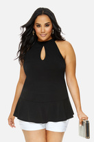 Fashion to Figure Amelie Keyhole Sleeveless Top