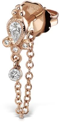 Maria Tash Delia Diamond Dangle Chain Stud Earring