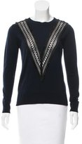 ADAM by Adam Lippes Wool Fringe-Accented Sweater