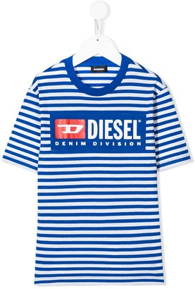 Diesel striped logo print T-shirt