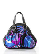 Emilio Pucci Multicolored Nylon Silver Tone Abstract Satchel Handbag