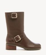 Sole Society Women's Wylann Buckle Moto Boots Black Size 5 Leather From