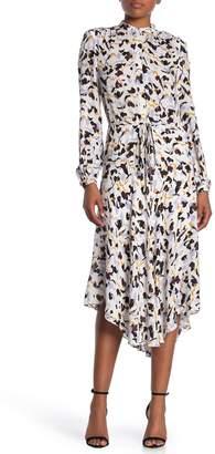 A.L.C. Miramar Mock Neck Silk Dress