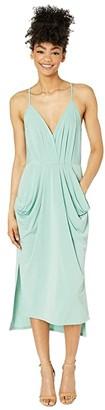 BCBGeneration Drapey Pocket Midi Dress - YDM6169244 (Heather Rose) Women's Dress