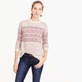 J.Crew Colorful Fair Isle crewneck sweater