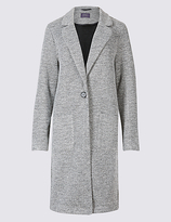 M&S Collection Textured One Button Jacket