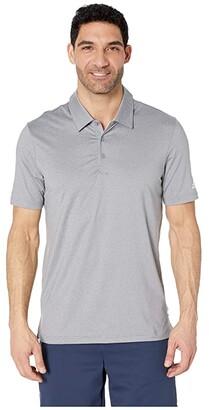 adidas Ultimate Heather Polo (Grey Three Heather/White) Men's Clothing