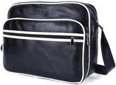 ANNE Men's PU Leather Messenger Bag Outdoor Sports Travel Casual Shoulder Bag IPAD Computer Bag