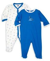 Petit Bateau Baby's Two-Piece Printed Footie Set