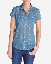 Eddie Bauer Women's Packable Short-Sleeve Shirt - Print