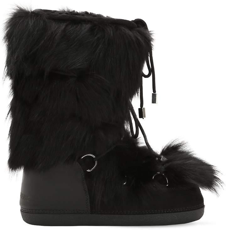 DSQUARED2 Fox Fur Snow Boots