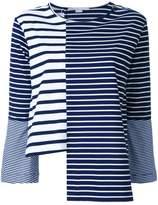 Stella McCartney asymmetric striped top