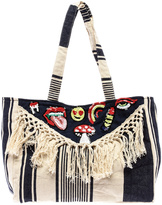 America & Beyond Fringe Patch Tote