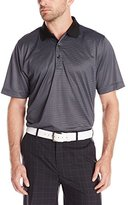 Cutter & Buck Men's Edge Print Polo Black