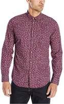 Calvin Klein Jeans Men's Micro Floral Long Sleeve Button Down Shirt