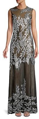 Tadashi Shoji Embellished Sleeveless Tulle Gown