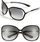Tom Ford Women's 'Raquel' 63Mm Oversized Open Side Sunglasses - Blk/ Smk