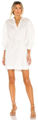 Rebecca Taylor 3/4 Sleeve Twill Belted Dress