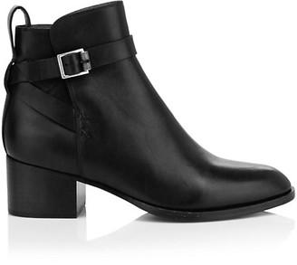 Rag & Bone Walker Buckle Leather Ankle Boots