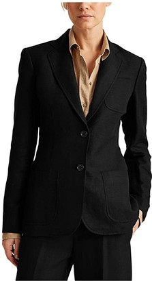 Lauren Ralph Lauren Twill Blazer (Polo Black) Women's Clothing