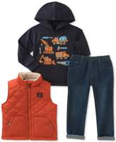 Kids Headquarters 3-Pc. Hooded Shirt, Vest and Jeans Set, Toddler Boys (2T-5T)
