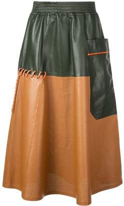 Mira Mikati contrast textured skirt
