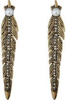 Rebecca Minkoff Feather Articulated Post Earrings