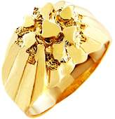 "Men's 14k Gold Nugget Rings ""The King"" (9.25)"